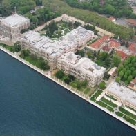 Aerial-view-of-the-dolmabahce-palace-istanbul-turkey